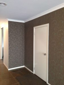ColourFuse Wallpaper Installation - Beautiful brown classic design in an entrance