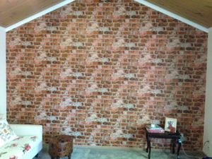 ColourFuse Wallpaper Installation - Red Brick Wallpaper