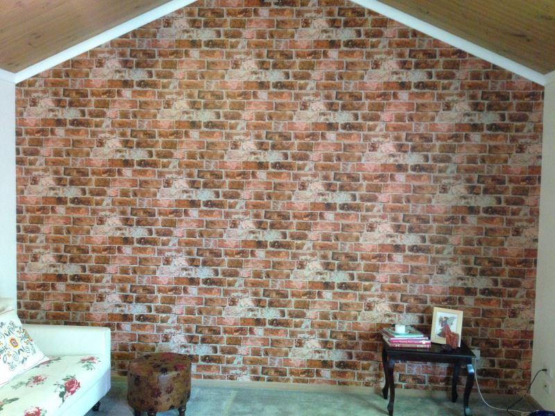 colourfuse wallpaper installation brick wall wallpaper