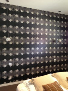 ColourFuse Wallpaper Installation - Black and brown wallapper
