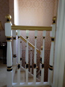 ColourFuse Wallpaper Installation - Intricate stairwell job
