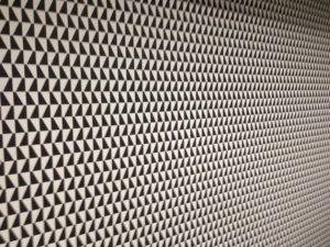 ColourFuse Wallpaper Installation - bold black and white geometric print