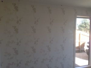 ColourFuse Wallpaper Installation - Delicate floral wallpaper