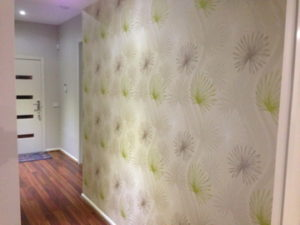 ColourFuse Wallpaper Installation - Floral wallpaper hung in an entrance hallway
