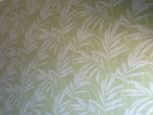ColourFuse Wallpaper Installation - Green plant motif