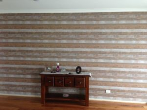 ColourFuse Wallpaper Installation - Horizontal rustic timber