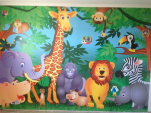 ColourFuse Wallpaper Installation - Jungle Wallpaper