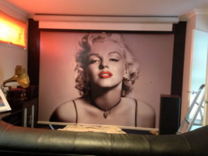 ColourFuse Wallpaper Installation - Marilyn Monroe Mural