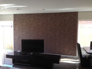 ColourFuse Wallpaper Installation - Hypnotic Brown Wallpaper from Silk Interiors