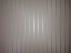 ColourFuse Wallpaper Installation - Modern silver stripe wallpaper by Silk Interiors