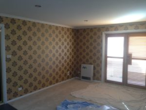 ColourFuse Wallpaper Installation - Noble Baroque Damask Wallpaper from Silk Inteiriors