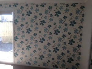 ColourFuse Wallpaper Installation - Pretty Blue Flowers