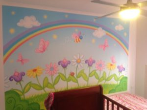 ColourFuse Wallpaper Installation - Rainbow mural