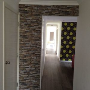 ColourFuse Wallpaper Installation - Stacked Stone Wallpaper