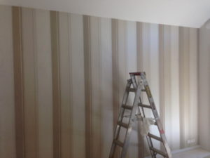 ColourFuse Wallpaper Installation - Striped Wallpaper