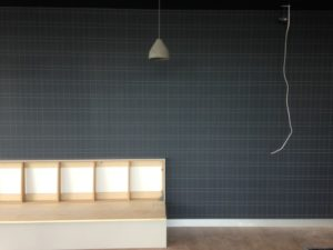 ColourFuse Wallpaper Installation - Checked wallpaper design