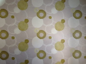 ColourFuse Wallpaper Installation - Green circle design wallpaper from Silk Interiors Wallpaper