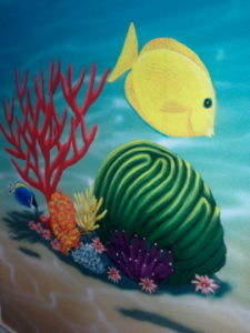 ColourFuse Wallpaper Installation - Colourful tropical fish wallpaper mural