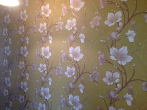 ColourFuse Wallpaper Installation - Green floral wallpaper - looks seamless