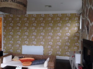 ColourFuse Wallpaper Installation - Vivid Green Floral Wallpaper Design from Silk Interiors