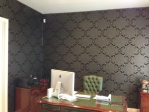 ColourFuse Wallpaper Installation - Wallpaper in a Study