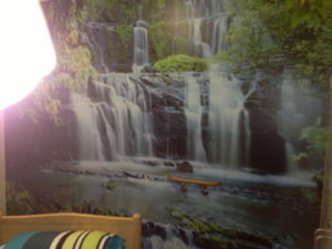 ColourFuse Wallpaper Installation - Waterfall mural