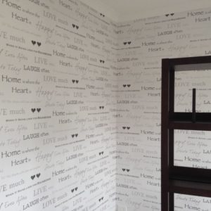 ColourFuse Wallpaper Installation - Text wallpaper
