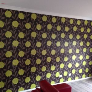 ColourFuse Wallpaper Installation - Bold Yellow Flowers