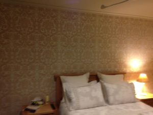 ColourFuse Wallpaper Installation - Classic damask wallpaper in a bedroom