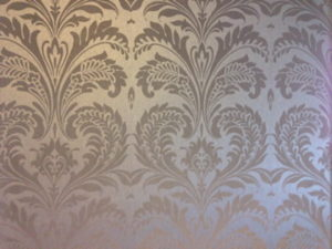 ColourFuse Wallpaper Installation - Beautiful metallic damask wallpaper