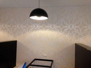 ColourFuse Wallpaper Installation - Metallic wallpaper