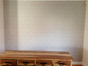 ColourFuse Wallpaper Installation - Classic damask design