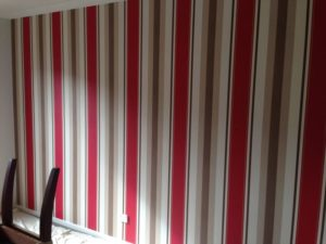 ColourFuse Wallpaper Installation - Bold Red Stripes