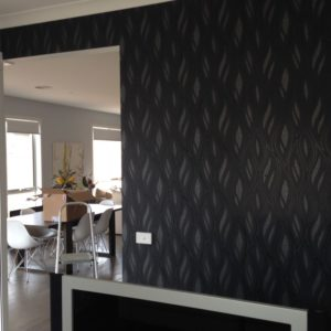 ColourFuse Wallpaper Installation - Contemporary plant motif