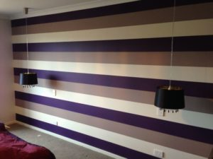 ColourFuse Wallpaper Installation - Thick stripes