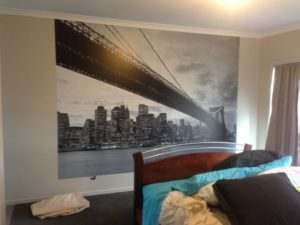 ColourFuse Wallpaper Installation - New York skyline wall mural