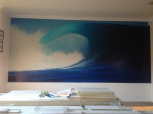 ColourFuse Wallpaper Installation - Big Wave Mural