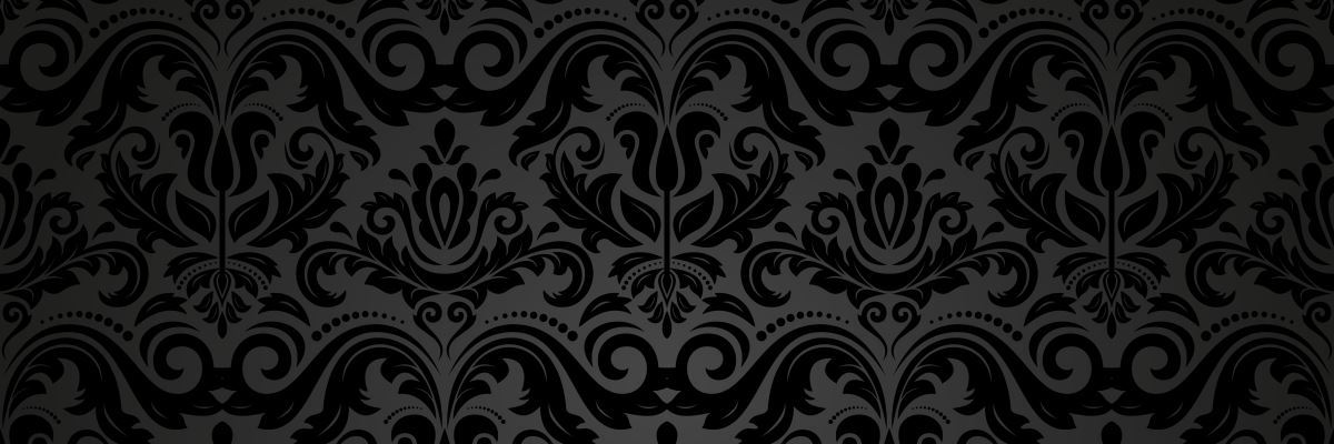 Black damask wallpaper