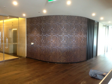 Colourfuse Wallpaper Installation Curved Wall In A Corporate